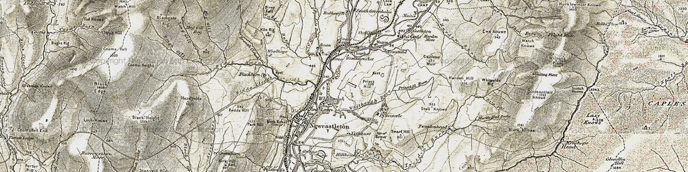 Old map of Whithaugh in 1901-1904