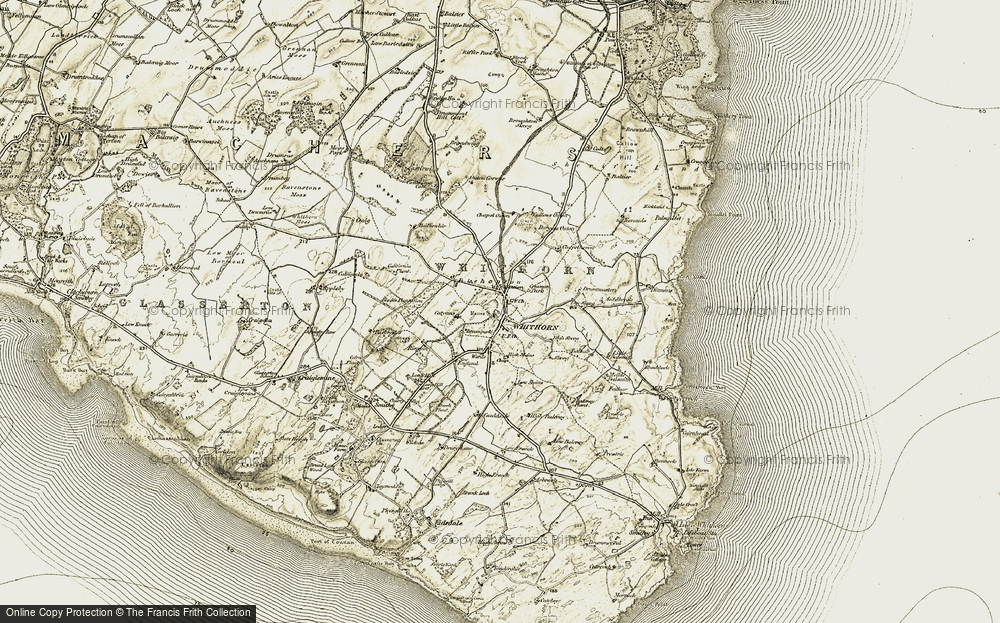 Old Map of Historic Map covering Balnab in 1905