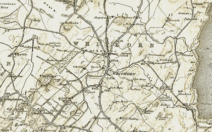 Old map of Whithorn in 1905