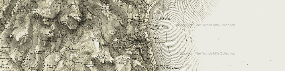 Old map of Whiting Bay in 1905-1906