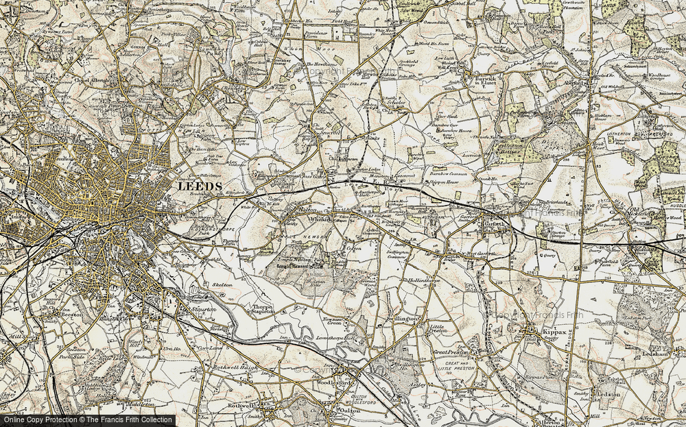 Old Map of Whitkirk, 1903 in 1903