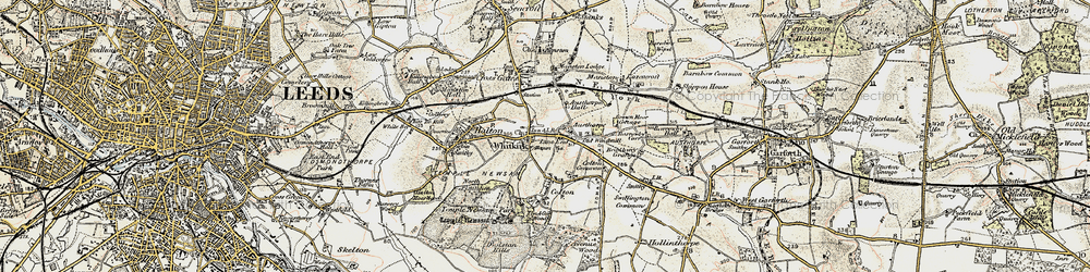 Old map of Whitkirk in 1903