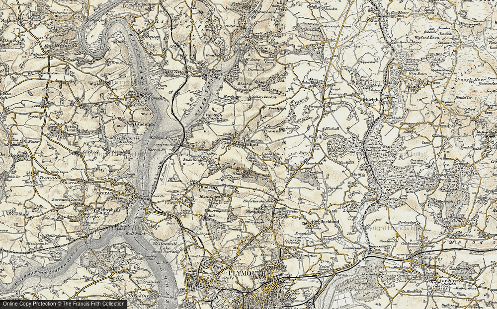 Old Map of Whitleigh, 1899-1900 in 1899-1900