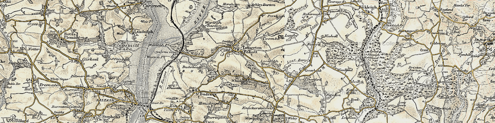 Old map of Whitleigh in 1899-1900