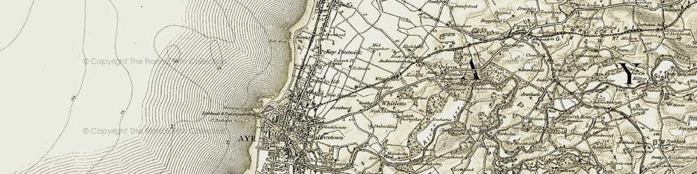 Old map of Whitletts in 1904-1906