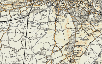 Old map of Whitley in 1897-1909
