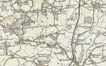 Old map of Whitley in 1899