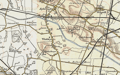 Old map of Whitley in 1903