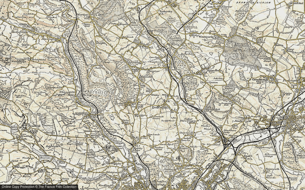 Old Map of Whitley, 1903 in 1903