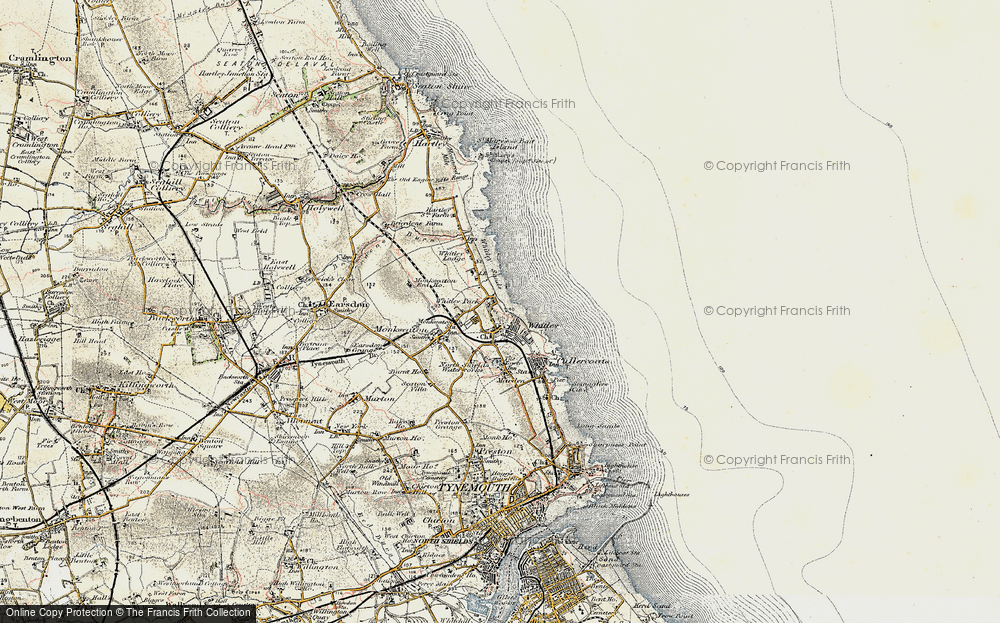 Old Map of Whitley Bay, 1901-1903 in 1901-1903