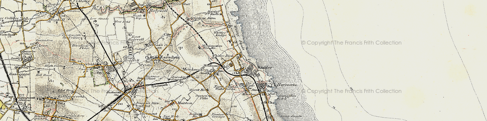 Old map of Whitley Bay in 1901-1903