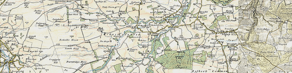 Old map of Whitley Mill in 1901-1904
