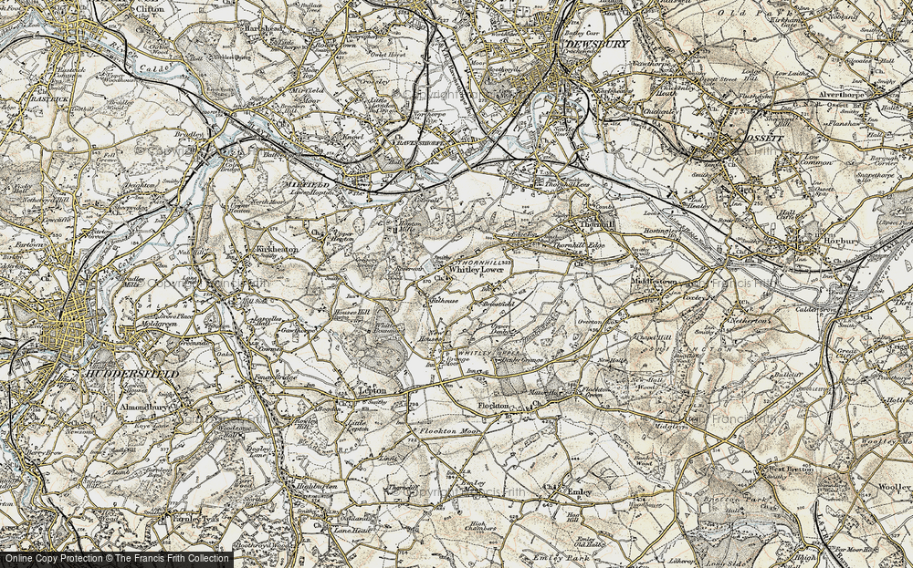 Old Map of Whitley Lower, 1903 in 1903