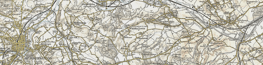 Old map of Whitley Lower in 1903