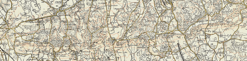 Old map of Whitley Row in 1898