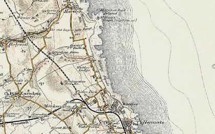 Old map of Whitley Sands in 1901-1903