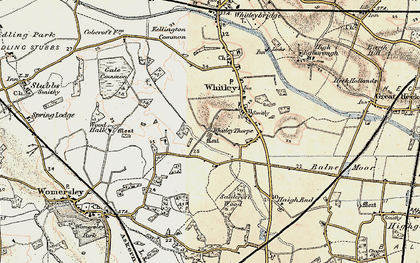 Old map of Whitley Thorpe in 1903