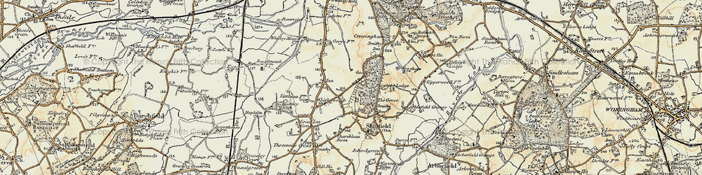 Old map of Whitley Wood in 1897-1909