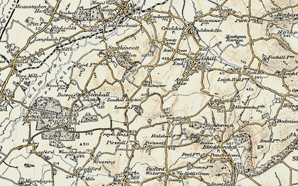 Old map of Whitmoor in 1898-1900
