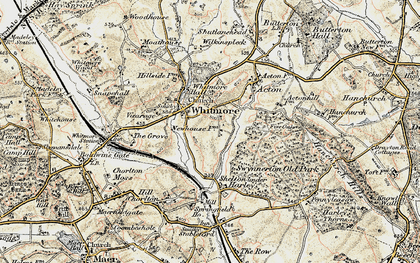 Old map of Woodhouse in 1902