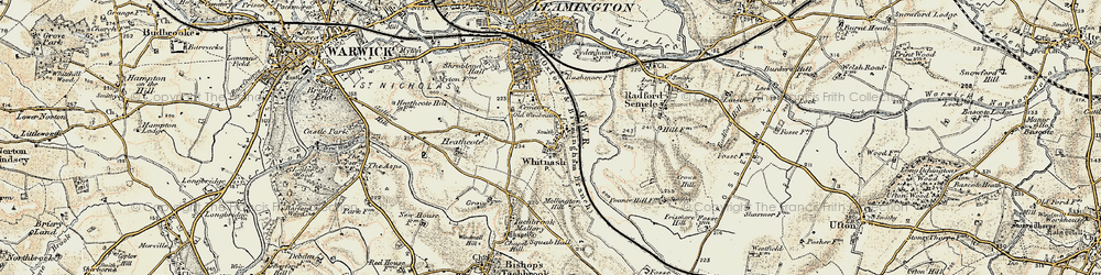 Old map of Whitnash in 1898-1902