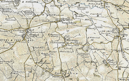 Old map of Whitrigg in 1901-1904