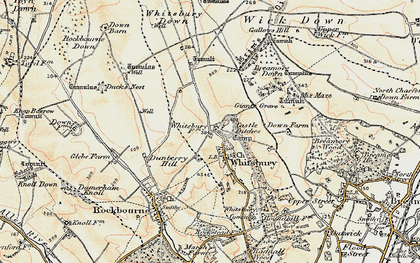 Old map of Whitsbury in 1897-1909