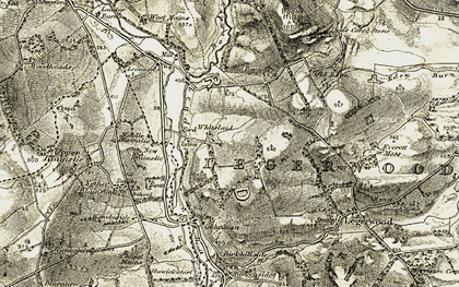 Old map of Whitslaid in 1901-1904