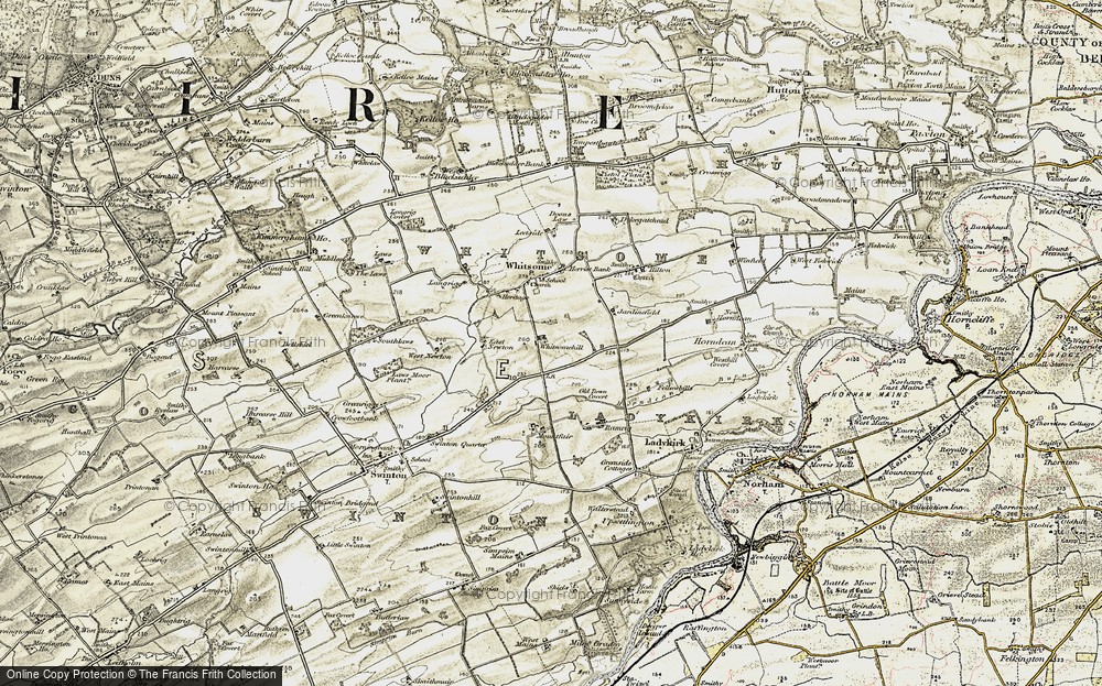Old Map of Whitsomehill, 1901-1904 in 1901-1904
