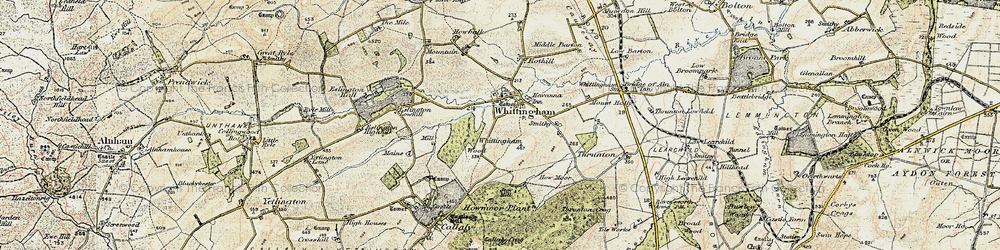 Old map of Whittingham Wood in 1901-1903