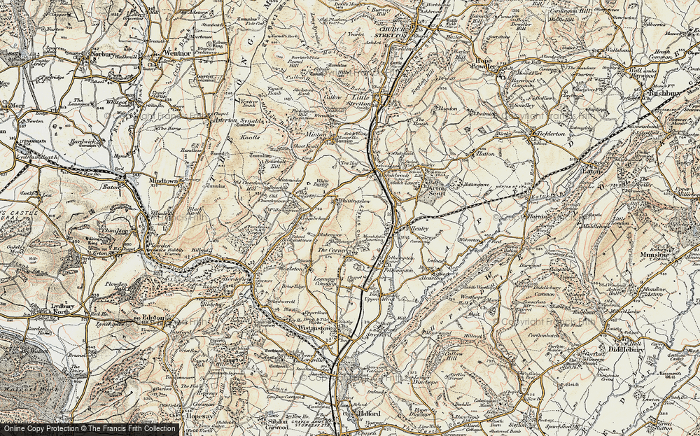 Old Map of Whittingslow, 1902-1903 in 1902-1903