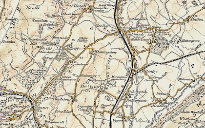 Old map of Whittingslow in 1902-1903