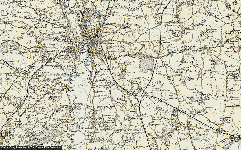Old Map of Historic Map covering Worcestershire in 1899-1901