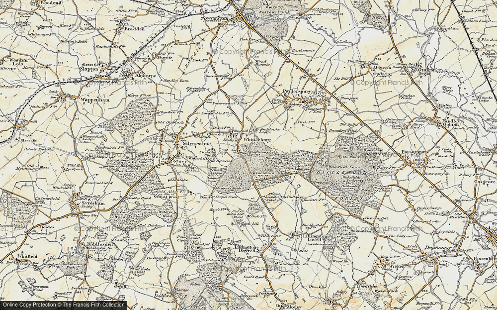 Old Map of Whittlebury, 1898-1901 in 1898-1901