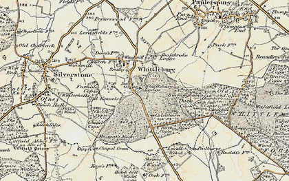 Old map of Whittlebury in 1898-1901