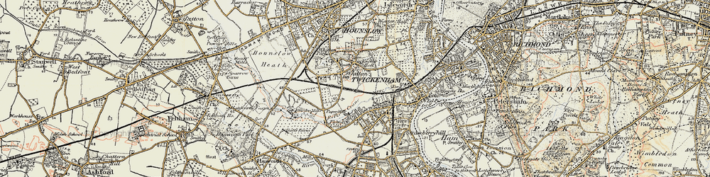 Old map of Whitton in 1897-1909