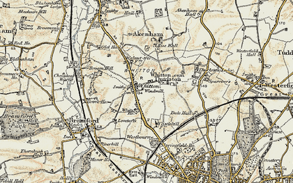 Old map of Whitton in 1898-1901