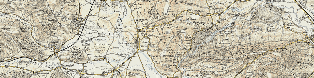 Old map of Whitton in 1901-1903