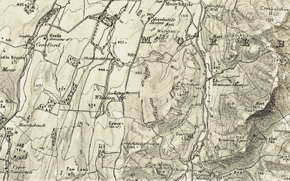 Old map of Whitton in 1901-1904