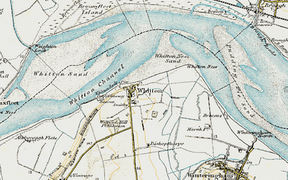 Old map of Whitton Ness in 1903