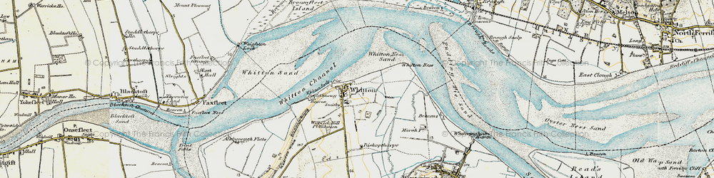 Old map of Whitton in 1903