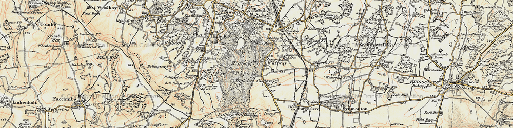 Old map of Whitway in 1897-1900