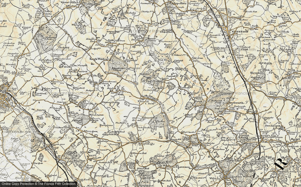 Old Map of Whitwell, 1898-1899 in 1898-1899