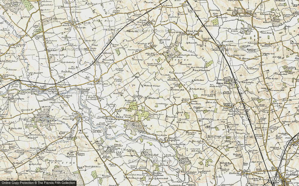 Old Map of Whitwell, 1903-1904 in 1903-1904