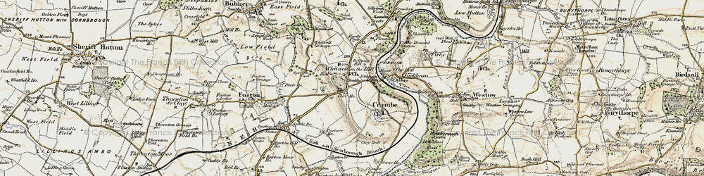 Old map of Whitwell-on-the-Hill in 1903-1904