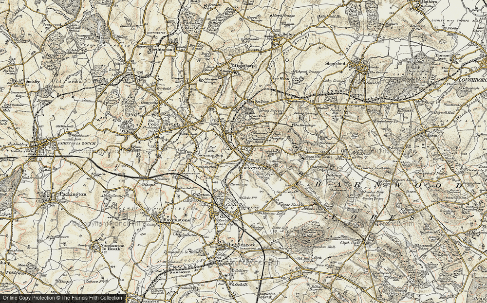 Old Map of Whitwick, 1902-1903 in 1902-1903
