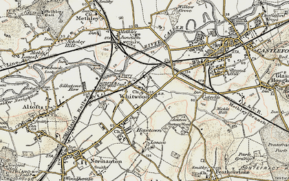 Old map of Whitwood in 1903