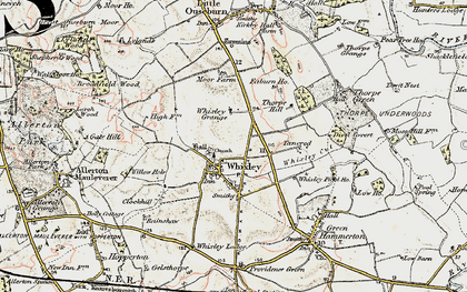 Old map of Whixley in 1903-1904