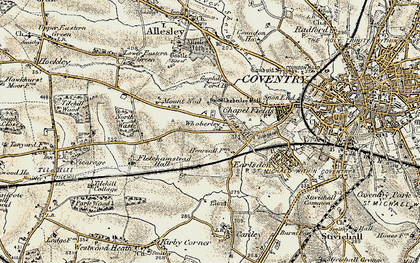 Old map of Whoberley in 1901-1902