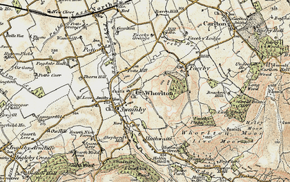 Old map of Whorl Hill in 1903-1904